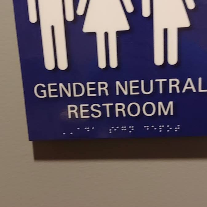 Image of the braille signs used by the Philadelphia Transgender Wellness Conference